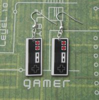 Nintendo NES Controller Earrings by PlayBox-Designs