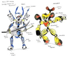 XEVOBOTS: Metabee and Roks by Flameydragwasp