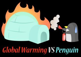 Global Warming VS Penguin by brenlez