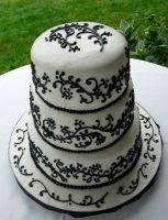 black and white cake by terilee53