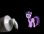 Twilight Sparkle vs Toothpaste Tube by studentofdust