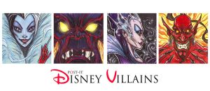 POST IT DISNEY VILLAINS PART TWO by QuinteroART