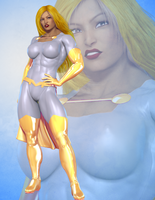Lady Might 3D by hulkdaddyg