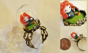 Chibi Merida Miniature Ring by wibblequibble