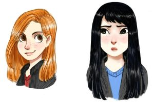 Ginny and Cho by courtneygodbey