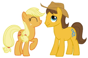 MLP:FiM -Applejack and Caramel by ah-darnit