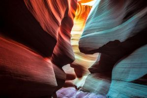 Face to face, Antelope Canyon, Arizona by alierturk