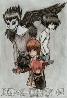 Death Note coloured by bailey1rox