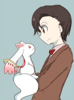 The Doctor meets Kyubey by 00riko