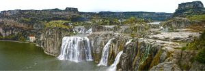 Shoshone Falls - Panoramic by slixtersix