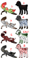 Goats and fox adopts ONE LEFT by CremexButter