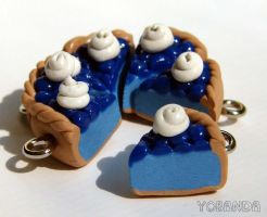 Blueberry Pie Charms by yobanda