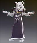 Asriel Dreemurr  - Undertale model by Elesis-Knight