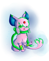 Fanart/Gift- Fluffy the Espeon by Floofveon