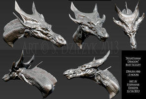 Kulathaam Dragon - Concept Bust by LeccathuFurvicael