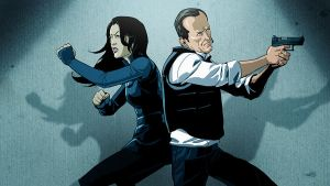 Agent May and Coulson by pungang