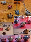 Poymer Clay Teapot Charms by kimasura