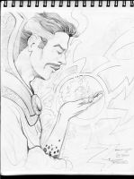 A4 Sketchbook Canson - Mustache Masters Dr Strange by Penerari