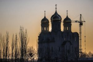 Church against sunset by saltov-man