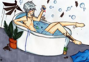MFD- Edward's bath time XD by shinarei