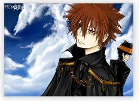 TYL Tsuna and Adult Reborn xD by Shumijin