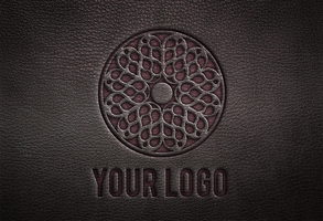 Leather Logo Mock-Up by wabbitns