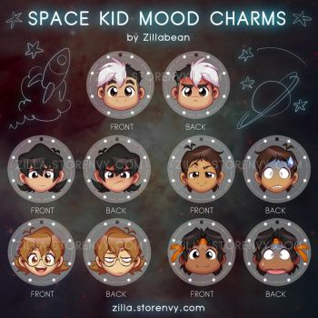 Space Kid Mood Charms! by zillabean