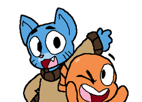 Gumball and Darwin by CutManTimeManPower