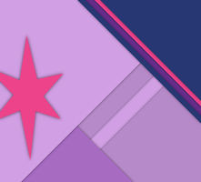 Twilight Sparkle Material Design 360 Wallpaper by legomaniack