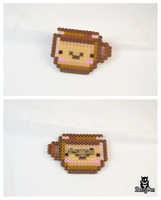 Tea lover cute perler hama beads brooch sprite by zestyden
