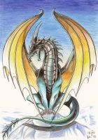 Winged Dragon on Ice... by homeless-sheep