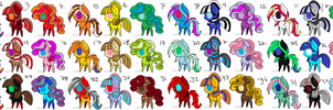 My Little Pony FREE Adoptables Huge Set- CLOSED!! by Lucid-Adoptables