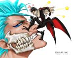 Bleach.  Grimmjow and Tsubaki by jen-and-kris