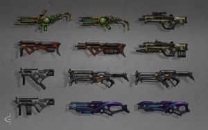Gun concepts by corndoggy