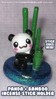 Panda Bamboo Incense Holder by xlilbabydragonx