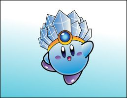 Vector Practice: Ice Kirby by DPghoastmaniac2