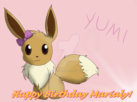 Yumi The Eevee - Birthday gift by YuseiCrimsonKnightX
