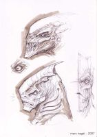 Heads Sketches by marcnail