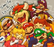 Mario and his friends by MarioBros041210