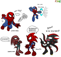 The Impostor Spider-Men by ProjectHazoid