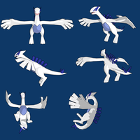Lugia 3d by PantheraNoctis