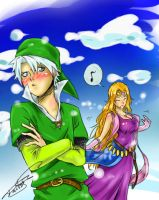 Toshiro cosplaying Link by taitsujin
