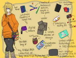 What's in my bag meme by Jellygay