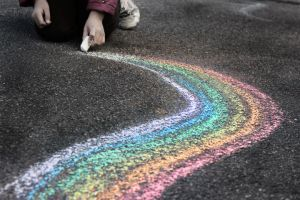 Sidewalk Rainbow by Silverinkweaver