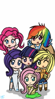 My Version of the Mane Six As Humans by Sabrina-Tellijohn