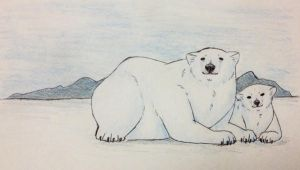 Polar bears by pSarahdactyls
