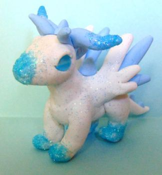 Clay Dragon Figure - Cloud by SolarCrush