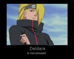 Deidara Motivational Poster 1 by MellyKeehl