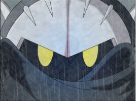 Meta Knight in the rain by MeGa78