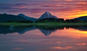 Flaming Sunset by KennethSolfjeld